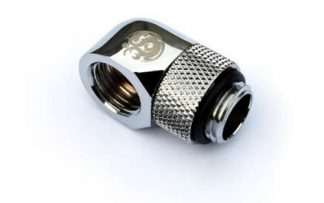 """G1/4"""" 90 Degree Rotary IG 1/4"""" Adapter Extender - Silver"""