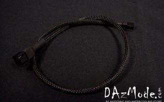 3-Pin 30cm Fan DarkSide Single Braid Cable - Jet Black