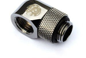 90 Degree Rotary Adapter M/F G1/4 Black Sparkle BP-BS90R