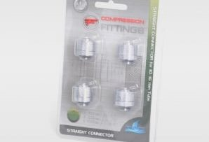 "Straight Fitting Connector - 3/8"" ID - 5/8"" OD - Value Pack (Set of 4)"