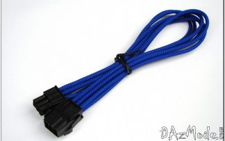 "6-Pin PCI-E HSL 12"" (30cm) DarkSide Single Braid Cable - Dark Blue UV"