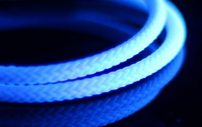 "5/64"" ( 2mm ) DarkSide High Density Cable Sleeving -White 1Ft-2"