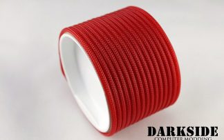 "5/32"" (4mm) DarkSide HD Cable Sleeving - Red UV"