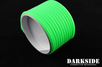 "5/32"" (4mm) DarkSide HD Cable Sleeving - Green UV"