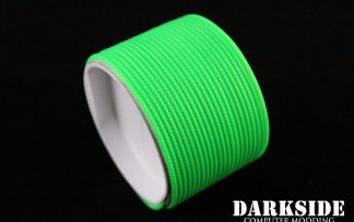 "5/64"" ( 2mm ) DarkSide HD Cable Single Wire Sleeving - Green UV 1Ft-3"