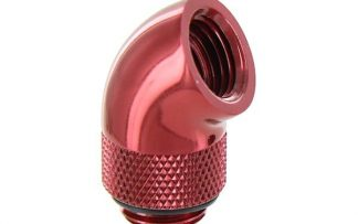 60 Degree Double Rotary Adapter M/F G1/4 - Red
