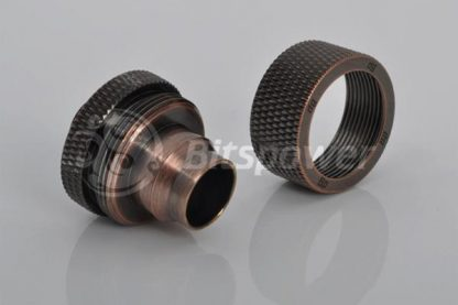 "1/2""ID  3/4""OD Straight Compression Fitting - Bronzed Age"