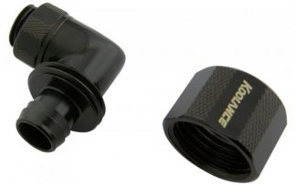 90-degree Swivel Angled for 10mm x 16mm (3/8in x 5/8in) *Black*