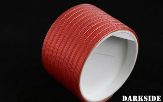 "1/4"" ( 6mm ) DarkSide High Density Cable Sleeving - Opaque Red"