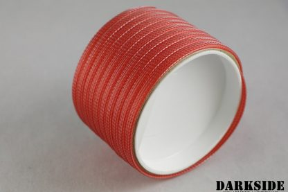 """1/4"""" ( 6mm ) DarkSide High Density Cable Sleeving - Opaque Red-2"""