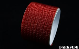 "1/4"" ( 6mm ) DarkSide High Density Cable Sleeving - Metallic Red"