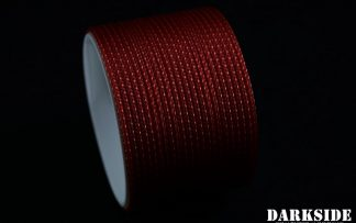 """5/64"""" ( 2mm ) DarkSide HD Cable Sleeving - Metallic Red"""