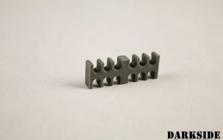12-pin Cable Management Holder Comb - Gun Metal