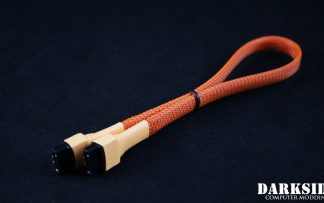"30cm (12"") SATA 2.0/3.0 7P 180° to 180° cable with latch  - Orange"