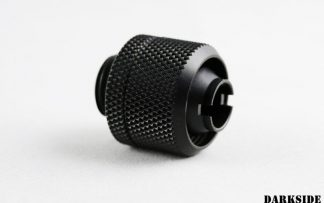 "DarkSide 3/8""ID - 1/2""OD Straight Compression Fitting - Black"